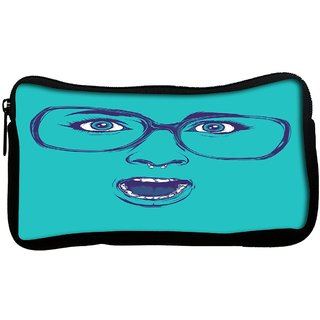 Snoogg  Shocker Face Poly Canvas Multi Utility Travel Pouch