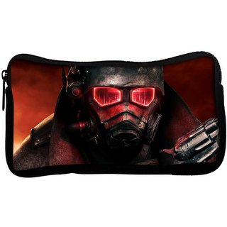 Snoogg Red Eye Army Poly Canvas  Multi Utility Travel Pouch