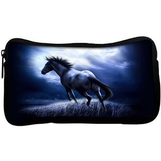 Snoogg Horse Running Poly Canvas  Multi Utility Travel Pouch