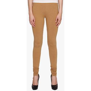 Women's Drak Brown Fine Size Cotton Lycra Leggings