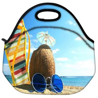 Snoogg Summer Beach Travel Outdoor Tote Lunch Bag
