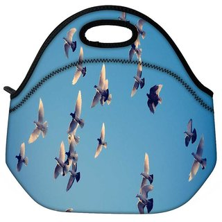 Snoogg Ubuntu Birds Travel Outdoor Tote Lunch Bag