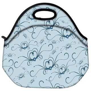 Snoogg Abstract Pattern Travel Outdoor CTote Lunch Bag