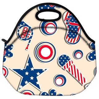 Snoogg Us Stars Travel Outdoor CTote Lunch Bag