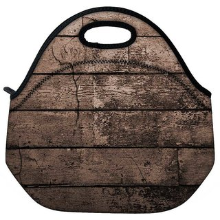 Snoogg Old Wood Textures Travel Outdoor Tote Lunch Bag