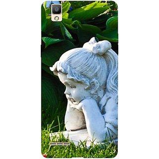 Casotec Girl Design 3D Printed Back Case Cover for Oppo F1