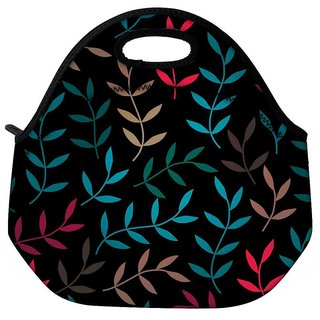 Snoogg Colorful Leaves Branches Travel Outdoor CTote Lunch Bag
