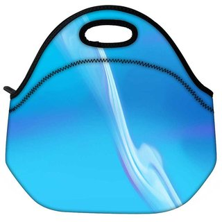 Snoogg Wavy Pathway Design Travel Outdoor Tote Lunch Bag
