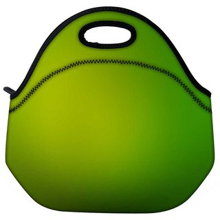 Snoogg Leavy Green Design Travel Outdoor Tote Lunch Bag