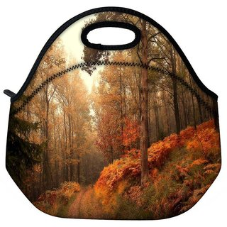 Snoogg Smokey Forest Travel Outdoor Tote Lunch Bag