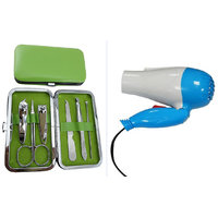 Combo of Manicure Kit And Hair Dryer