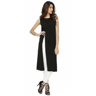 Women's Sleeveless Side Cut Maxi Polyester Top