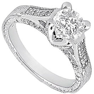 LoveBrightJewelry 18K White Gold & Diamond Classy Engagement Ring- 1.00 CT