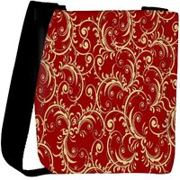 Snoogg Abstract Yellow Red Pattern Designer Womens Carry Around Cross Body Tote Handbag Sling Bags RPC-9978-SLTOBAG