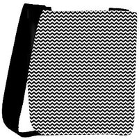 Snoogg Black And White Strips Designer Womens Carry Around Cross Body Tote Handbag Sling Bags RPC-10054-SLTOBAG