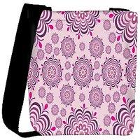 Snoogg Pink Pattern Designer Womens Carry Around Cross Body Tote Handbag Sling Bags RPC-10637-SLTOBAG