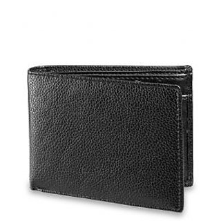 Arum stylish Smart Black Leather Wallet For Men ABMWD-0003