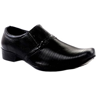 Indo Men's Black Formal Slip On Shoe