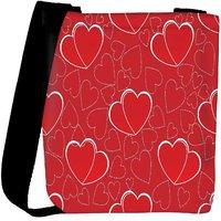 Snoogg Red Heart Designer Womens Carry Around Cross Body Tote Handbag Sling Bags RPC-10130-SLTOBAG