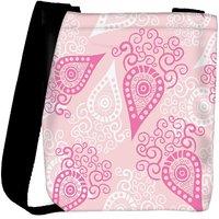 Snoogg Pink Pattern Designer Womens Carry Around Cross Body Tote Handbag Sling Bags RPC-10763-SLTOBAG