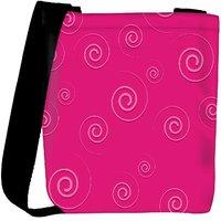 Snoogg Pink Pattern Designer Womens Carry Around Cross Body Tote Handbag Sling Bags RPC-10802-SLTOBAG