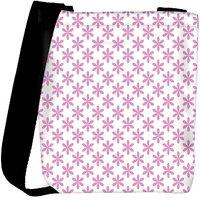 Snoogg Pink Leaves Designer Womens Carry Around Cross Body Tote Handbag Sling Bags RPC-10956-SLTOBAG