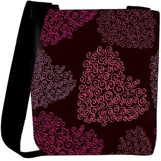 Snoogg Pink Heart Designer Womens Carry Around Cross Body Tote Handbag Sling Bags RPC-10153-SLTOBAG