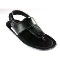 Vedano Men's Formal Faux Leather Sandals Black