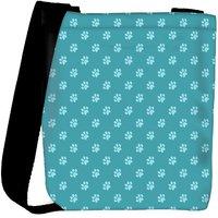 Snoogg Abstract Dog Foot Prints Designer Womens Carry Around Cross Body Tote Handbag Sling Bags RPC-10216-SLTOBAG