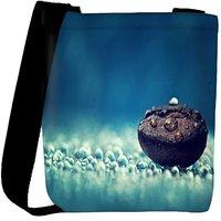 Snoogg Coffee Bean Drop Water Designer Womens Carry Around Cross Body Tote Handbag Sling Bags RPC-6645-SLTOBAG