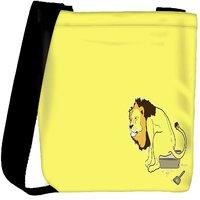 Snoogg The Lion On The Pot Designer Womens Carry Around Cross Body Tote Handbag Sling Bags RPC-6910-SLTOBAG