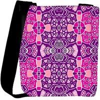 Snoogg Pink Purple Pattern Designer Womens Carry Around Cross Body Tote Handbag Sling Bags RPC-10866-SLTOBAG
