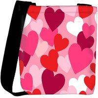 Snoogg Multiple Hearts Designer Womens Carry Around Cross Body Tote Handbag Sling Bags RPC-10868-SLTOBAG