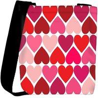Snoogg Opposite Hearts Designer Womens Carry Around Cross Body Tote Handbag Sling Bags RPC-10869-SLTOBAG