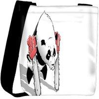 Snoogg Panda With Chainsaw Paws Designer Womens Carry Around Cross Body Tote Handbag Sling Bags RPC-7166-SLTOBAG