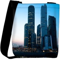 Snoogg Abstract Buildings Designer Womens Carry Around Cross Body Tote Handbag Sling Bags RPC-8931-SLTOBAG