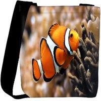 Snoogg Leno Fish Designer Womens Carry Around Cross Body Tote Handbag Sling Bags RPC-9408-SLTOBAG
