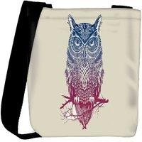 Snoogg Owl Paint Designer Protective Back Case Cover For Oneplus 3 Designer Womens Carry Around Cross Body Tote Handbag Sling Bags RPC-3602-SLTOBAG