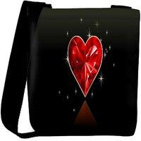 Snoogg Diamond Heart Designer Womens Carry Around Cross Body Tote Handbag Sling Bags RPC-6764-SLTOBAG
