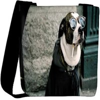 Snoogg Dog Funny Animal Designer Womens Carry Around Cross Body Tote Handbag Sling Bags RPC-6775-SLTOBAG