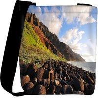 Snoogg Brown Stones Designer Womens Carry Around Cross Body Tote Handbag Sling Bags RPC-9031-SLTOBAG