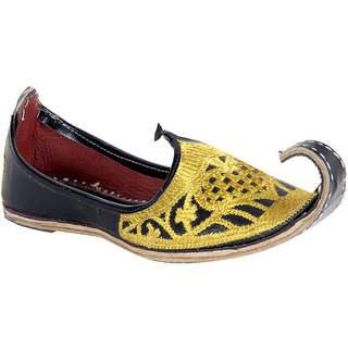 Panahi Khussa Jari Rajasthani Leather Shoes For Men