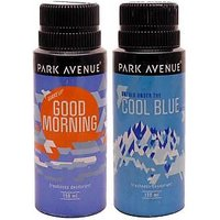 Park Avenue Cool Blue And Good Morning Deodorant Spray - For Men (150ml)