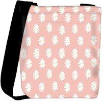 Snoogg Pink Flower Designer Womens Carry Around Cross Body Tote Handbag Sling Bags RPC-3699-SLTOBAG