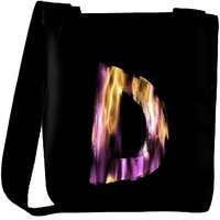 Snoogg Flaming 3D Letter Designer Protective Back Case Cover For Oneplus 3 Designer Womens Carry Around Cross Body Tote Handbag Sling Bags RPC-4422-SLTOBAG