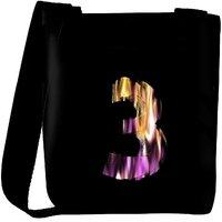 Snoogg Flaming 3D Letter Designer Protective Back Case Cover For Oneplus 3 Designer Womens Carry Around Cross Body Tote Handbag Sling Bags RPC-4427-SLTOBAG