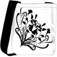 Snoogg Floral Corner Silhouette Designer Protective Back Case Cover For Oneplus 3 Designer Womens Carry Around Cross Body Tote Handbag Sling Bags RPC-4439-SLTOBAG
