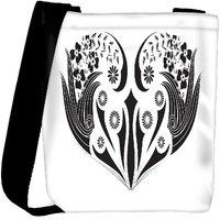 Snoogg Floral Frame Designer Protective Back Case Cover For Oneplus 3 Designer Womens Carry Around Cross Body Tote Handbag Sling Bags RPC-4440-SLTOBAG