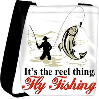Snoogg Fly Fisherman Catching Trout With Fly Reel Designer Protective Back Case Cover For Oneplus 3 Designer Womens Carry Around Cross Body Tote Handbag Sling Bags RPC-4484-SLTOBAG