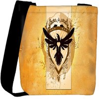 Snoogg Coat Of Arms With The Bird Designer Womens Carry Around Cross Body Tote Handbag Sling Bags RPC-6792-SLTOBAG